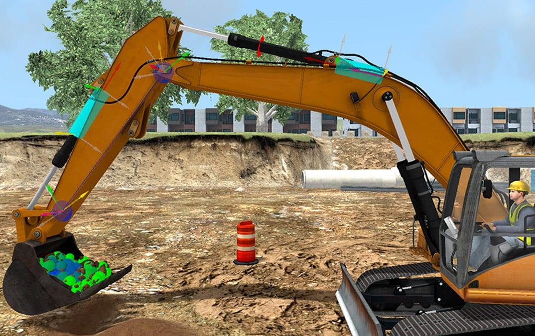 Real-Time Earthmoving Equipment Simulation
