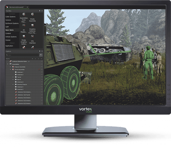 Real-Time Military Ground Vehicle Simulation