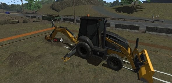Backhoe simulator training