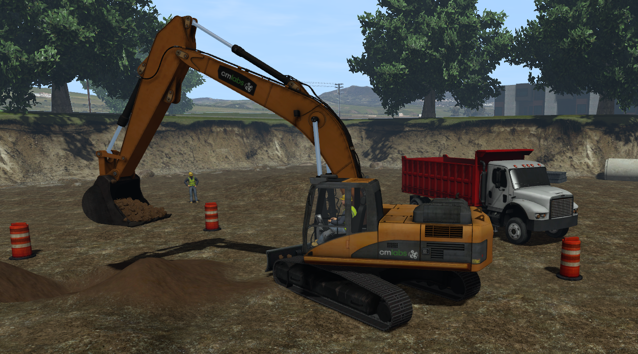 excavator training pack digging