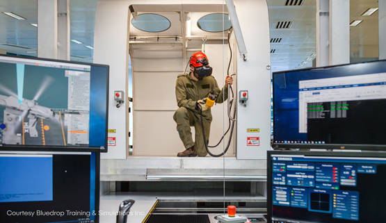Vortex Studio Powers Bluedrop's Rescue Hoist Simulators to Save Lives and Training Costs