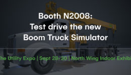 CM Labs to Provide Utility Expo Attendees with Sneak Peak of New Boom Truck Simulator