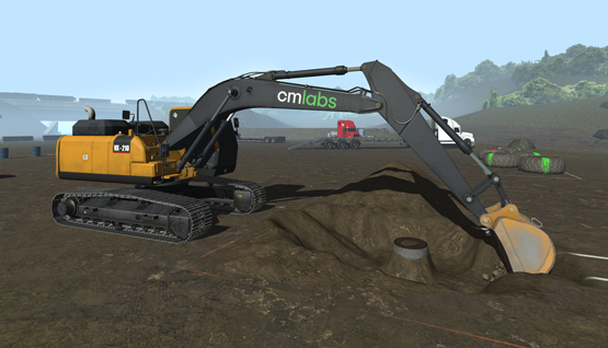 CM Labs Releases Groundbreaking Excavator Simulator Training Pack