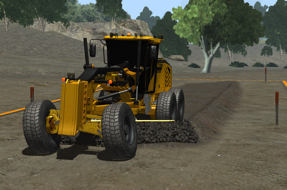 Vortex simulator motor grader training module learning program