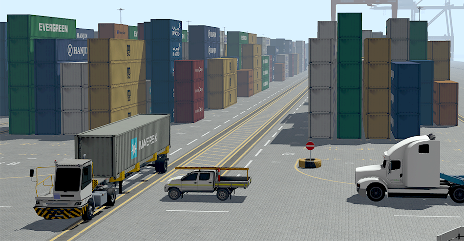 Internal Transfer Vehicle simulator- Moving Container
