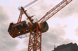 CM Labs Luffing Tower Crane Simulation From Bottom