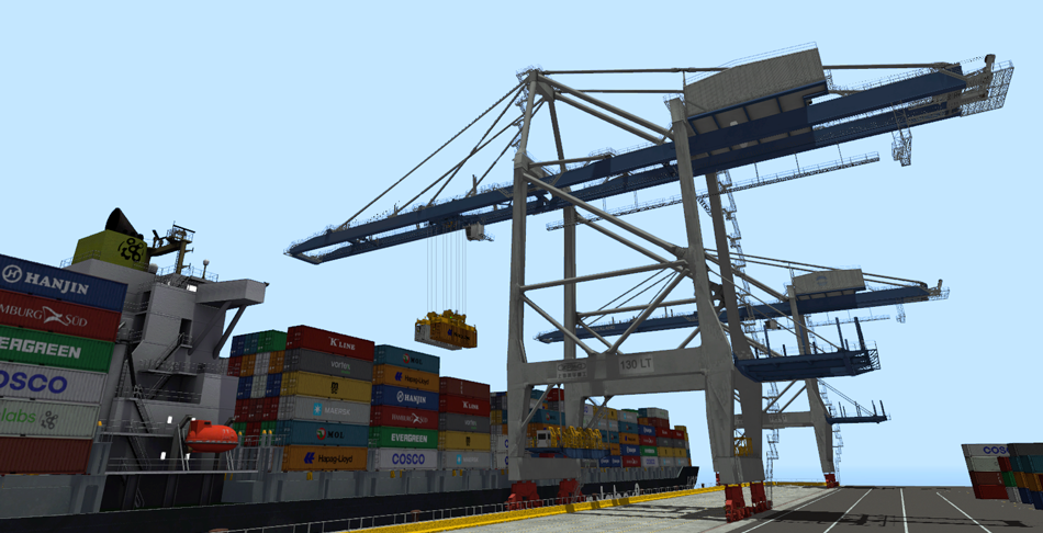 Megamax ship-to-shore crane simulator- port crane equipment