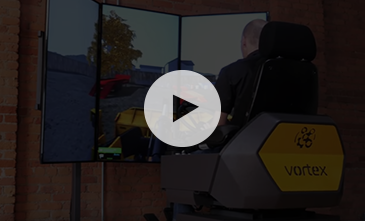 Overhead crane simulator on Vortex Advantage