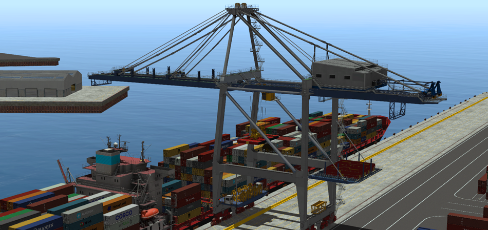 Panamax STS Crane Simulator- port crane equipment