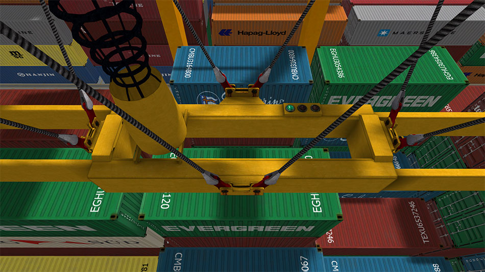 Rubber tyred Gantry Crane Simulator