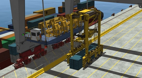 Straddle Carrier Simulator - Portalhubwagen Simulator
