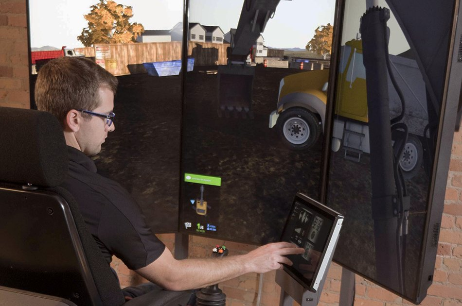Vortex Advantage Heavy Equipment Simulator from CM Labs Simulations