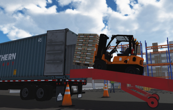 Container Yard Forklift