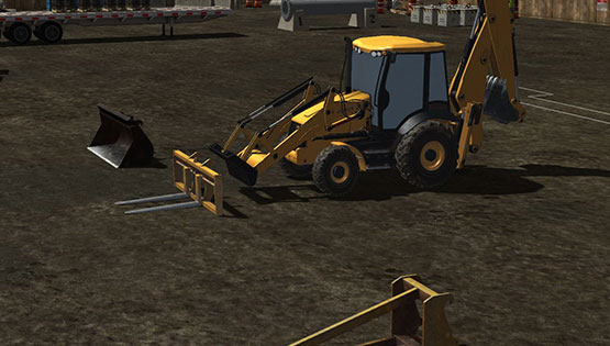 CM Labs Simulations Releases New Backhoe Loader Training Module
