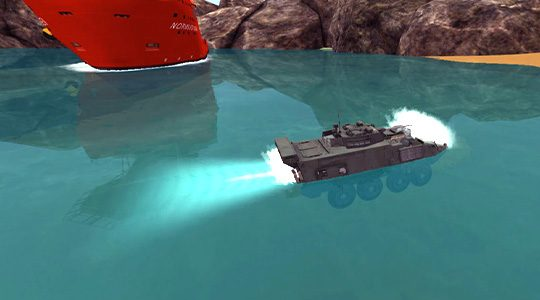 Hydrodynamics for Military Simulation Training