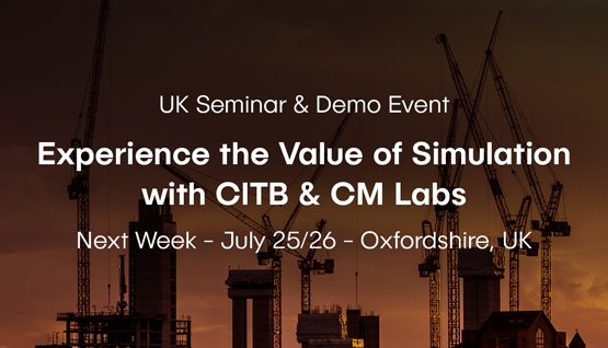CM Labs & CITB, UK's Largest Construction Trainer, to Share Insights into Simulation-Based Training