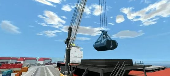 Mobile Harbour Crane Simulation