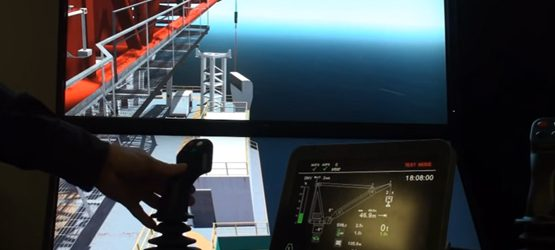 Prototype of Liebherr BOS crane simulator integrated with Litronic controls