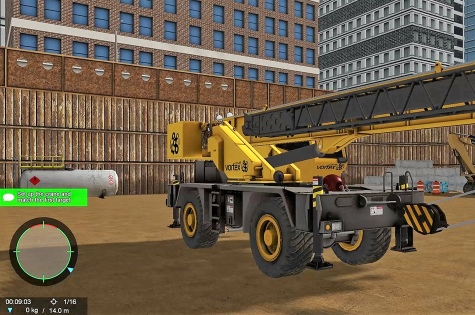 Mobile crane simulator