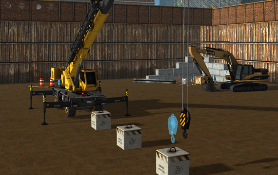 Mobile crane simulator training