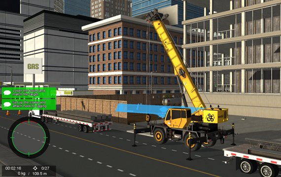 Mobile crane simulator training- Operator performance metrics