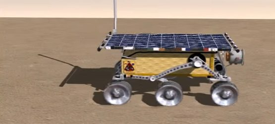 Planetary Robotics (NASA Mars Rover) Simulation on Soft Terrain