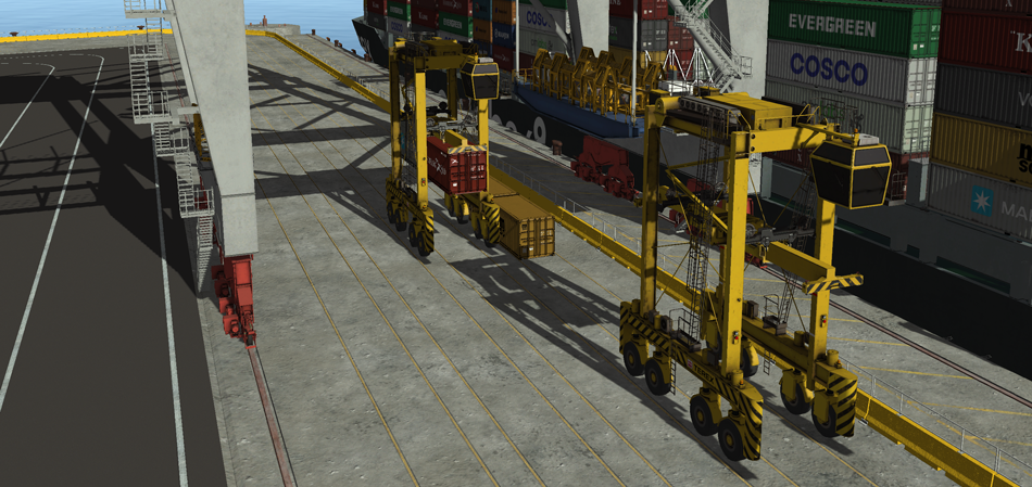 Straddle Carrier Simulator