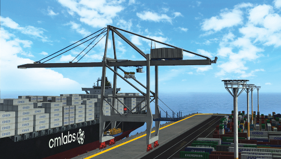 ZPMC Partners with CM Labs to Develop Training Simulators for Remote Desk-Controlled STS Cranes